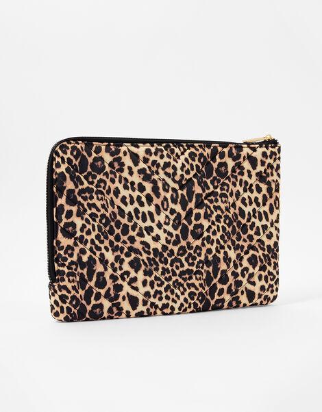 Quilted Nylon Laptop Case Leopard, Leopard (LEOPARD), large