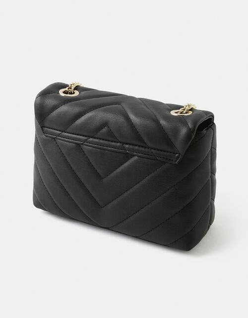 Mia Quilted Cross-Body Bag, Black (BLACK), large