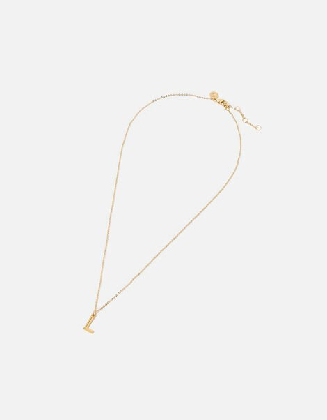 Gold-Plated Initial Pendant Necklace Gold, Gold (GOLD), large
