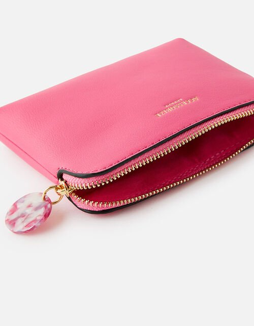 Reptile and Resin Coin Purse , Pink (FUCHSIA), large