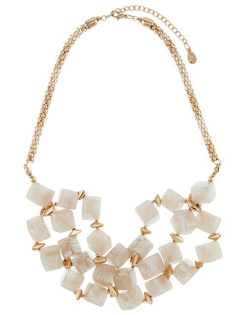 Cube Bead Chunky Collar Necklace, , large