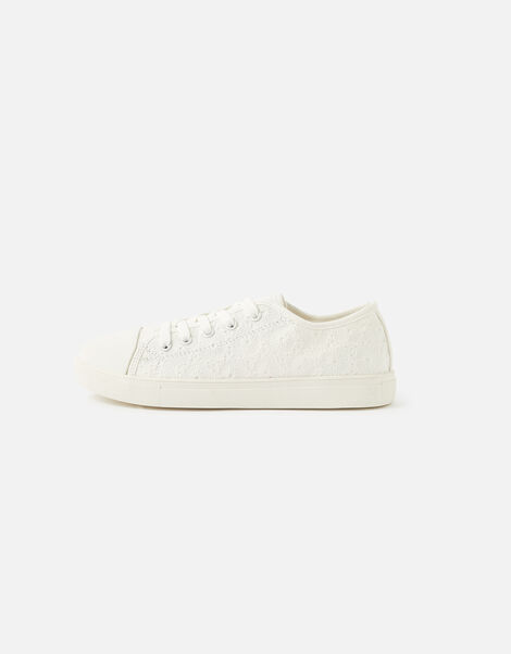Broderie Trainers White, White (WHITE), large