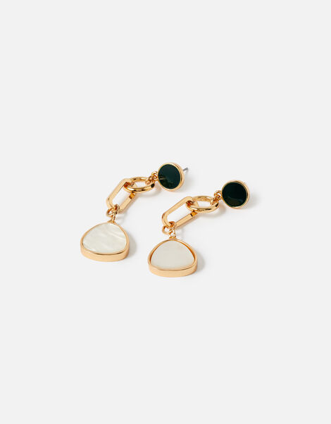 Reconnected Stone Chain Statement Earrings, , large