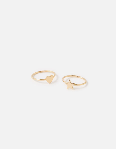 Star Heart Stacking Ring Set  Gold, Gold (GOLD), large