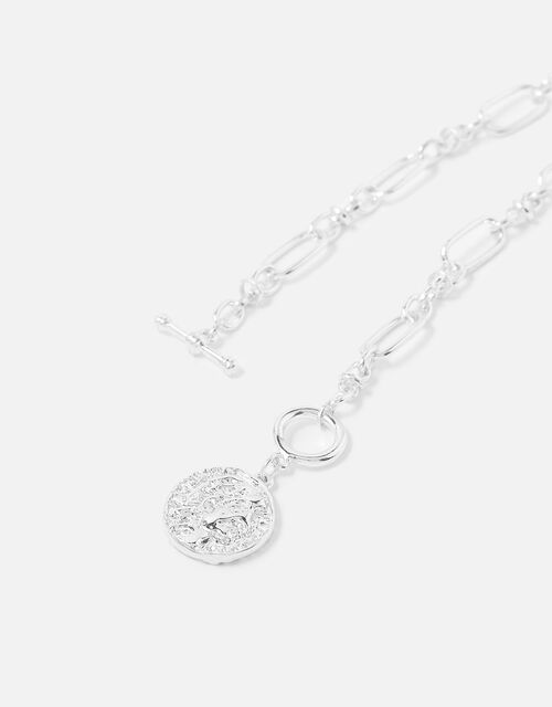 Berry Blush T-Bar Coin Pendant Necklace, , large