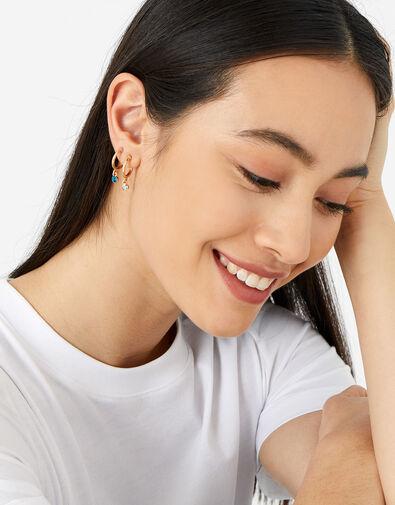Ombre Gem Hoop Earring Set, , large
