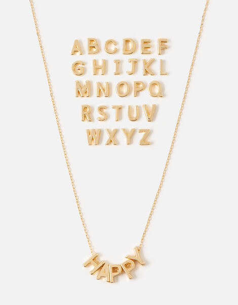 Make-Your-Own Letter Necklace Gold, Gold (GOLD), large