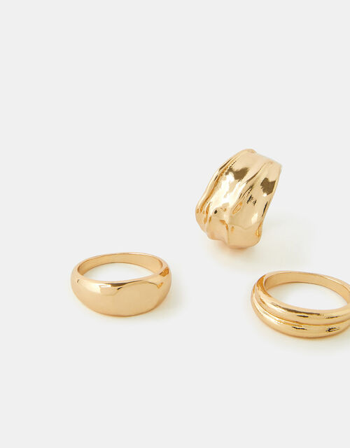 Chunky Ring Set, Gold (GOLD), large