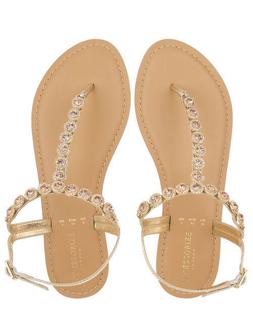 Rebecca Crystal Strap Sandals, Pink (PINK), large