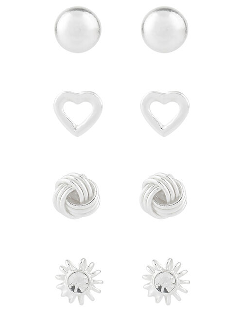 Sterling Silver Stud Earring Multipack, , large