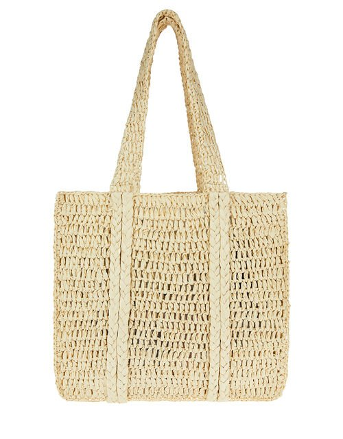 Slouchy Weave Shopper Bag, , large