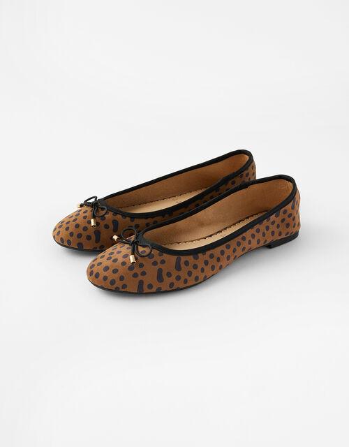 Leopard Ballerina Flats, Multi (DARKS-MULTI), large