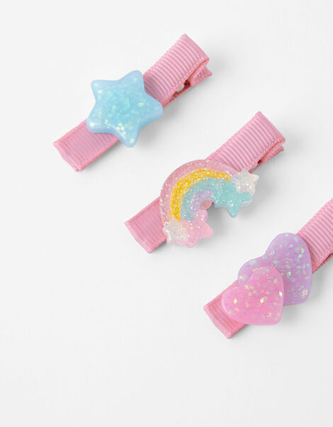 Rainbow, Star and Heart Hair Slides, , large