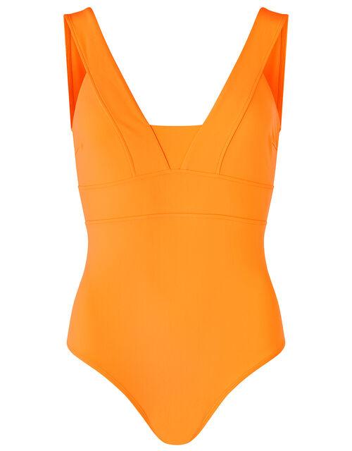 Lexi Plunge Shaping Swimsuit, Orange (ORANGE), large