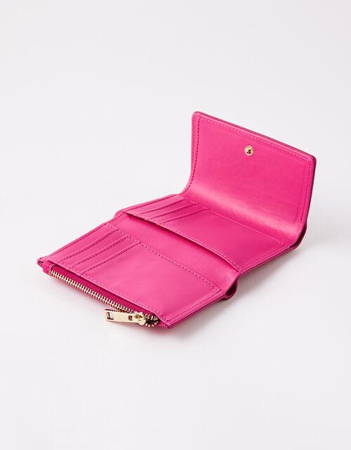 Reptile Tri-Fold Wallet, Pink (FUCHSIA), large