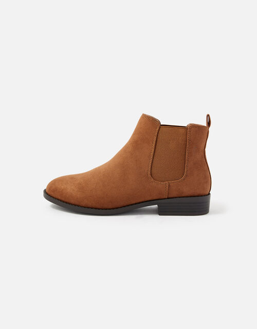 Suedette Chelsea Boots, Brown (BROWN), large