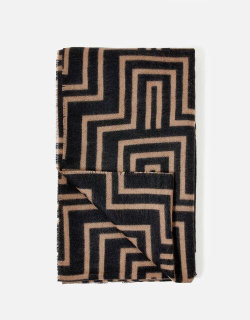 Firenze Geo Print Blanket Scarf, , large