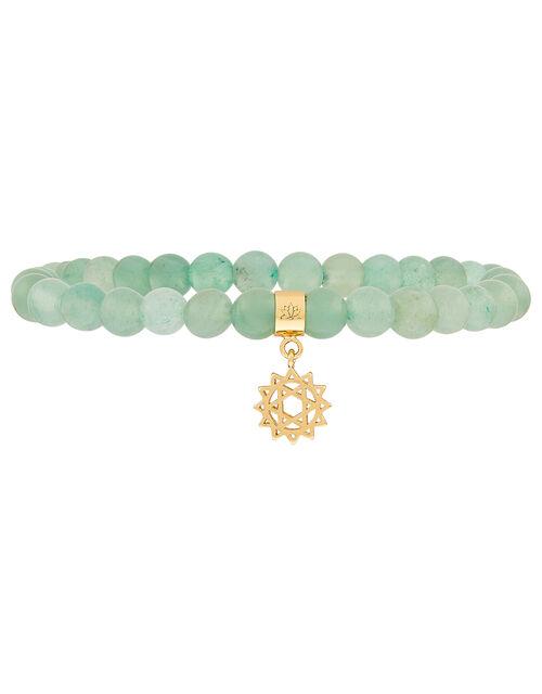 Beaded Heart Chakra Bracelet, , large