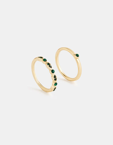 Esmerelda Gem Ring Set Green, Green (GREEN), large