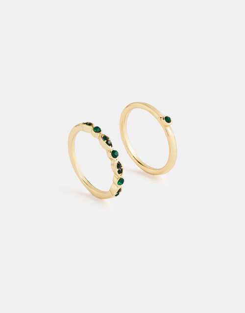 Esmerelda Gem Ring Set, Green (GREEN), large