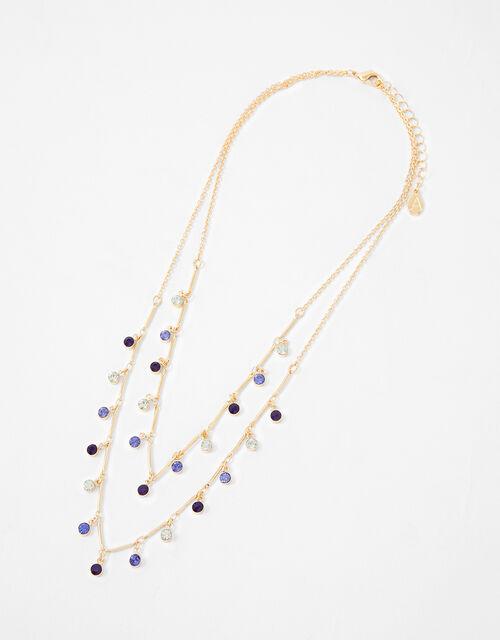 Ombre Gem Multirow Necklace, , large