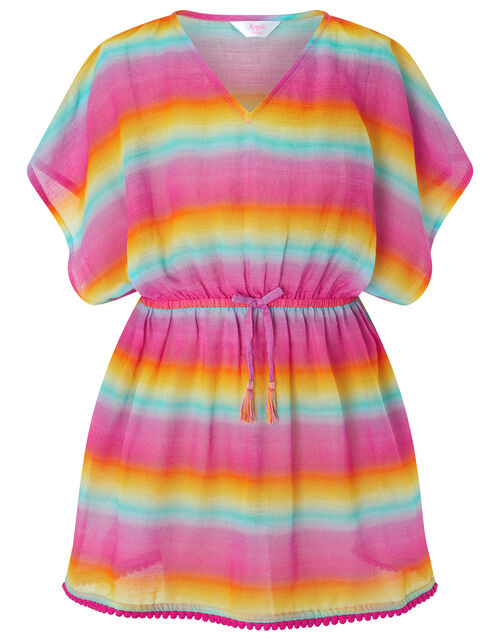 Ombre Rainbow Cotton Kaften, Multi (BRIGHTS-MULTI), large