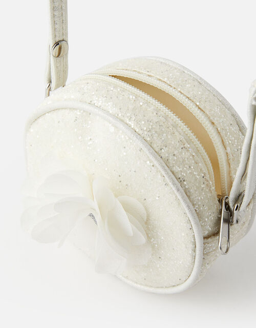 Corsage Glitter Cross-Body Bag, , large