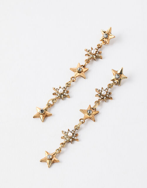 Sparkle Star Long Drop Earrings, , large