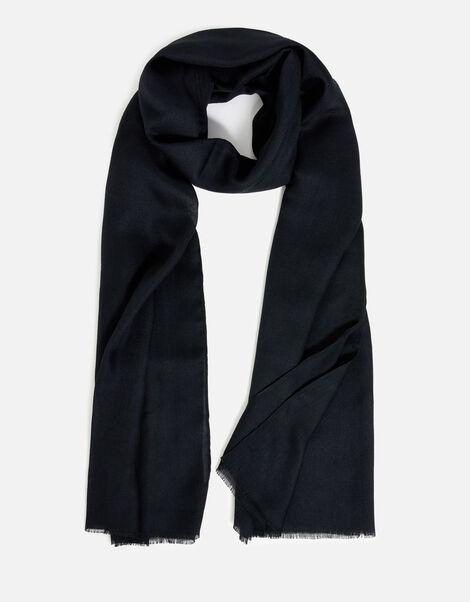 Sorrento Lightweight Scarf Black, Black (BLACK), large