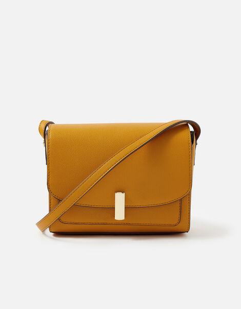 Abigail Turn Lock Cross-Body Bag  Yellow, Yellow (OCHRE), large