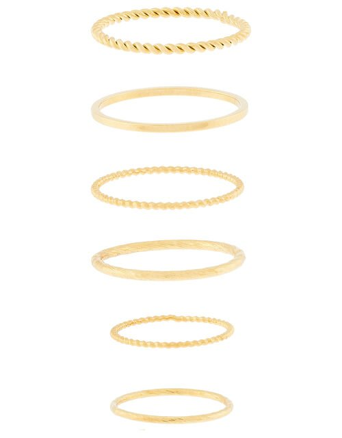 Gold-Plated Stacking Ring Set, Gold (GOLD), large