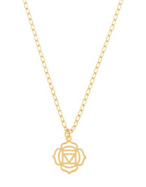 Gold-Plated Root Chakra Pendant Necklace, , large