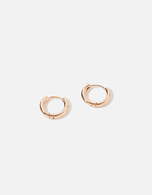 Rose Gold-Plated Chunky Hoops, , large