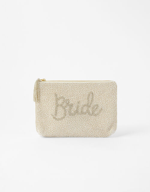 Bride Beaded Pouch Bag, , large