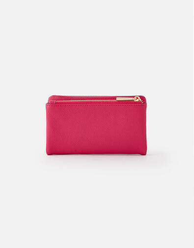 Foldover Zip Coin Purse  Pink, Pink (PINK), large