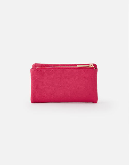 Foldover Zip Coin Purse , Pink (PINK), large