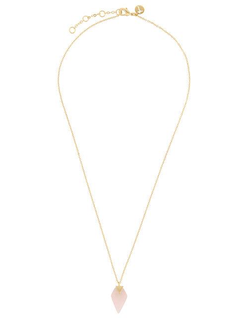 Healing Stones Gold-Plated Rose Quartz Necklace, , large