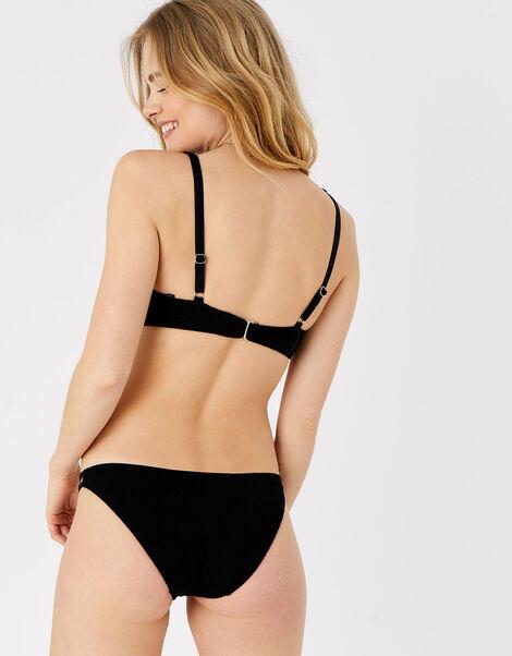 Textured Moulded Cup Bikini Top Black, Black (BLACK), large