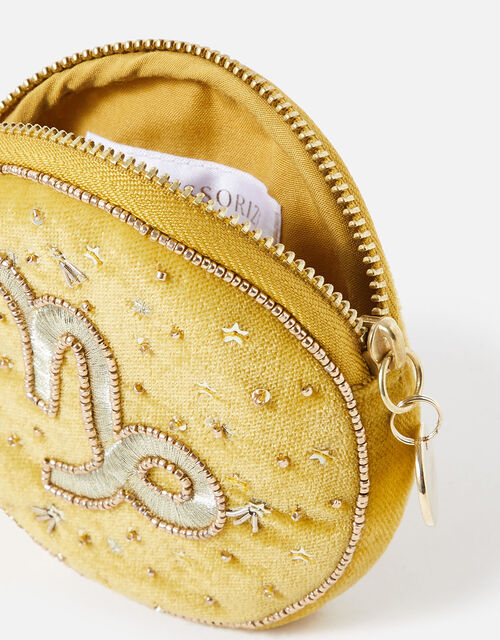 Star Sign Coin Purse, Yellow (OCHRE), large