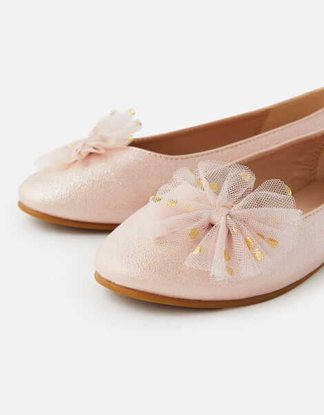 Bow Shimmer Ballerina Flats Pink, Pink (PINK), large