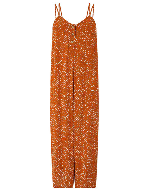 Relaxed Spot Jumpsuit, Orange (RUST), large