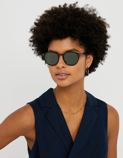 Paige Tortoiseshell Preppy Sunglasses, , large