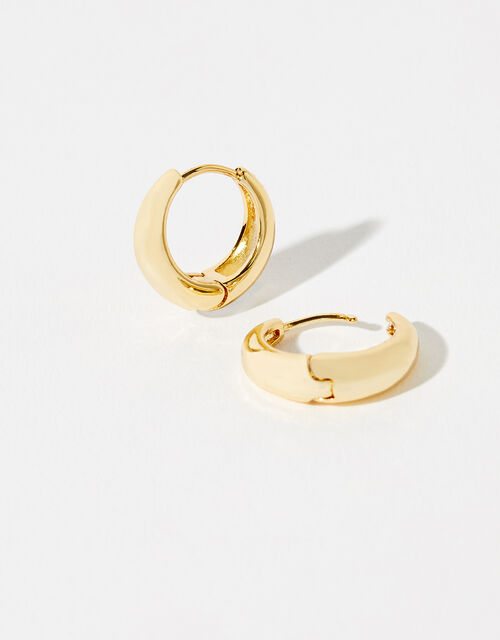 Gold-Plated Small Chunky Hoops, , large