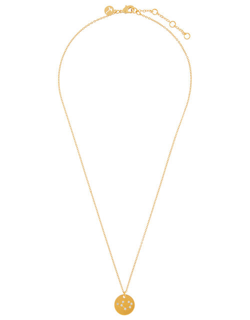 Gold-Plated Constellation Necklace - Sagittarius, , large