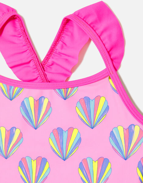 Shell Print Swimsuit Pink, Pink (PINK), large