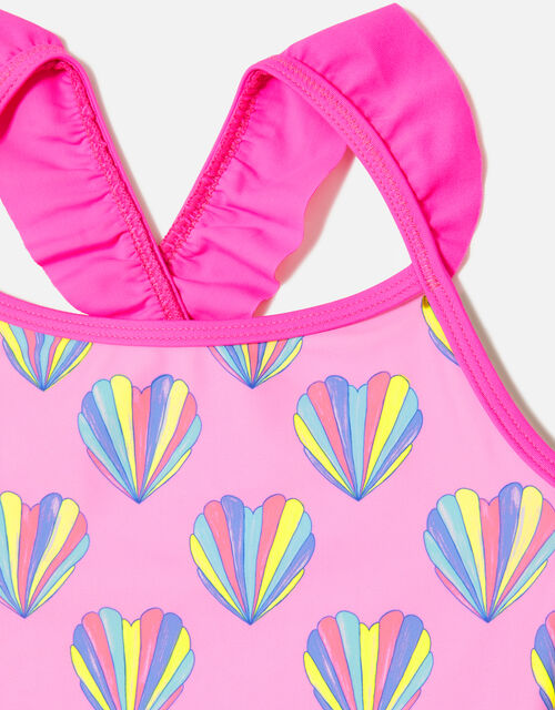 Shell Print Swimsuit, Pink (PINK), large