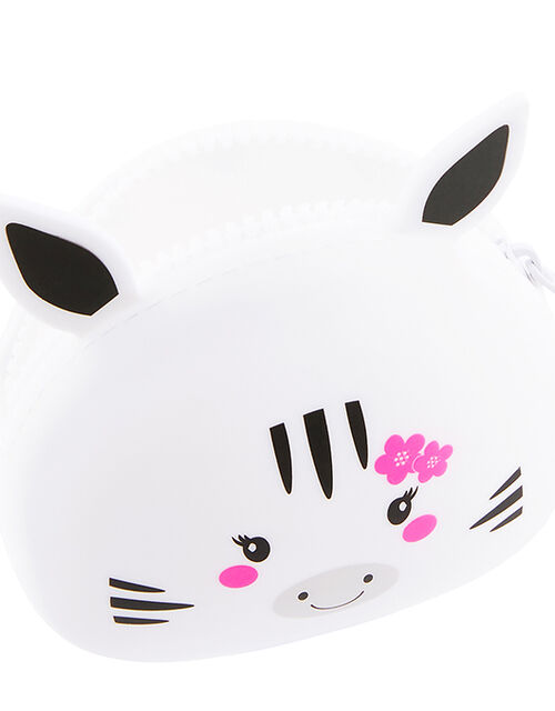 Zebra Buddy Silicone Coin Purse, , large