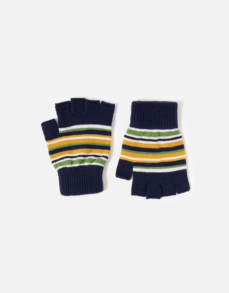 Stripe Fingerless Glove, , large