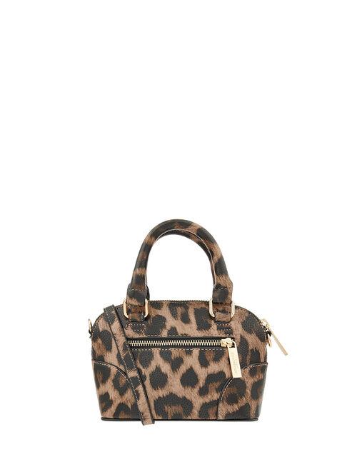 Cross-Body Kettle Bag, Leopard (LEOPARD), large