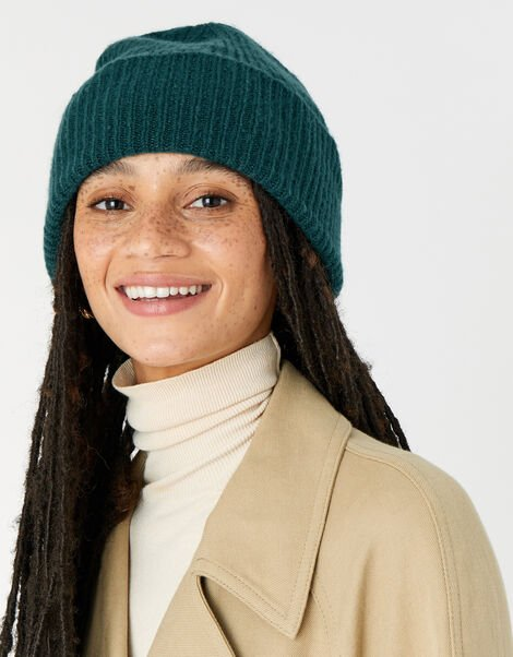Soho Knit Beanie Hat Teal, Teal (TEAL), large